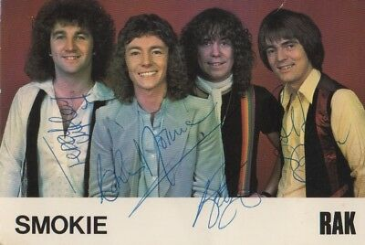 Smokie Autogramme full signed 10x15 cm Postkarte