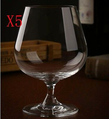 New 5X Capacity 470ML Height 135MM Transparent Brandy Wine Glass/Glassware %