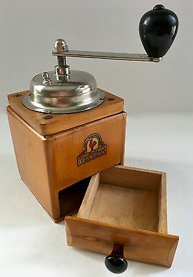 Vintage European German C. A. LEHNARTZ Rooster Mahlwerk Wood Coffee Mill/Grinder