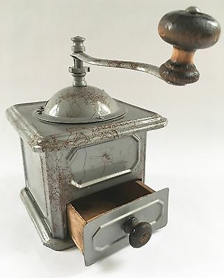 1870s RARE Antique French PEUGEOT FRERES Model L Sheet Metal Coffee Mill/Grinder