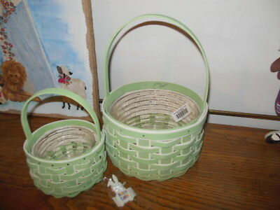 Longaberger 2018 Large & Small Easter Basket Sets Plus Tie-ons and Protectors!