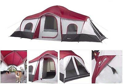 Ozark Trail Tents 10 Person 3-Room Cabin Tent C&ing Family Hiking NEW  sc 1 st  PicClick : 15 person tent - memphite.com