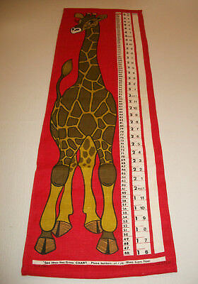 Ulster Linen Child's Growth Chart Wall Hanging Giraffe Made in Ireland