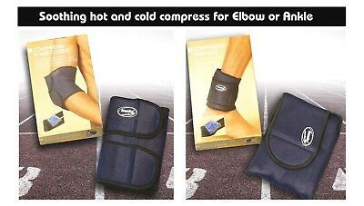 Essay Compress Wrap For Ankle  & Elbow - Ice or Hot Cold Gel Pack