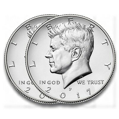 US Half Dollar 2017, Kennedy, D, P, oder D&P Mint, Neu unc.