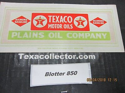 Texaco Blotter Lot 850