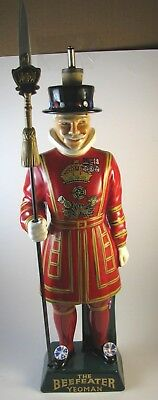 Vintage Large The Beefeater Yeoman Hand Painted Ceramic Decanter