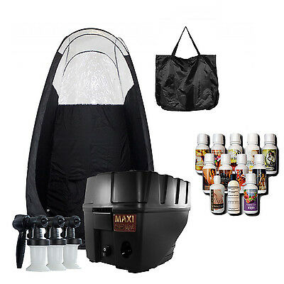 Maximist Pro TNT Quiet HVLP Spray Tan Kit w Black Tent w Tampa Bay Tan Spray