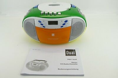 CD-Player Radio Boombox MP3 CD UKW MW Kassette Dual P68-1 bunt ZA2