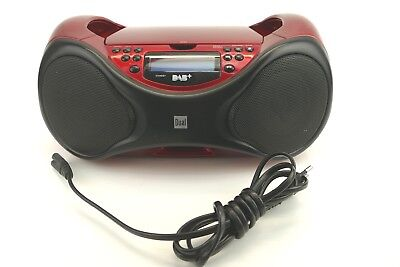 USB Radio Digitalradio CD-Player Dual DAB P101 rot MP3 DAB+ CL1