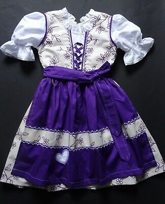 NEW German Austrian Girls  Dirndl Dress + Apron  5-6  years