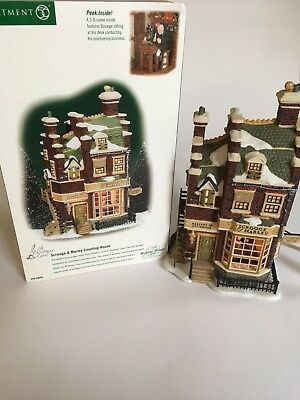 Dept 56 Dickens' Village Lighted Scrooge and Marley Counting House