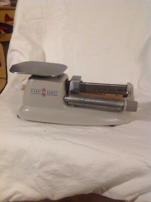 VINTAGE PITNEY BOWES Post Office POSTAGE SCALE NICE SCALE MISSING ROLLER RATES