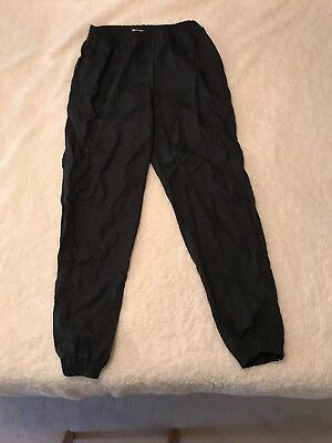 Vintage Reebox Windpants Black Medium Unlined