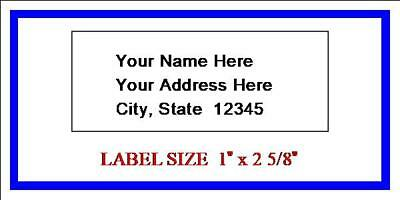 600 - Custom Printed Address Labels -1 x 2 5/8 - 30 Labels per sheet