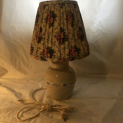 Longaberger Pottery Lamp and Shade - Made in USA