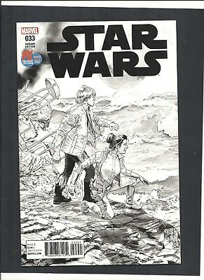 STAR WARS #33 SDCC Exclusive 2017 MAYHEW B&W VARIANT LIMITED 5000 Copies MARVEL