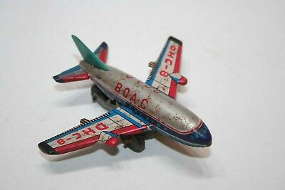 BOAC DHC-8 TIN TOYS avion Flugzeug BLECH Made in JAPAN S2