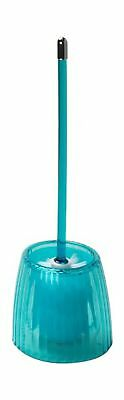 Carnation Home Fashions Ribbed Acrylic Toilet Bowl Brush, Cerulean Blue