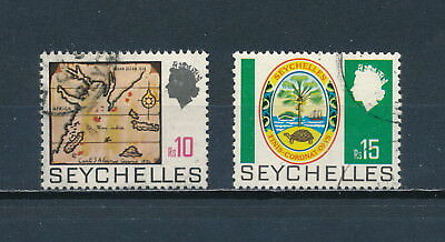 Seychelles 270 - 71 used, 1969 Definitives, Top Values