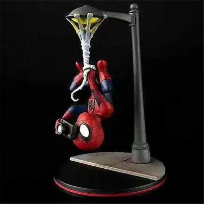 Spider Man Street Light Upside Down 18cm Anime Spiderman Figur Statue Figuren IB