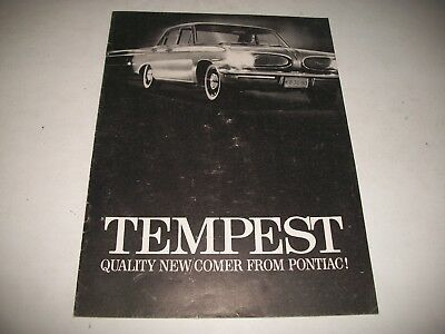 1961  Pontiac Tempest Original Sales Brochure First Year For Tempest