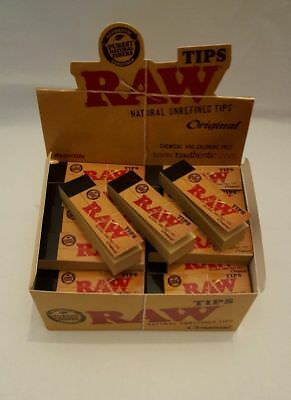 Original RAW Rolling Paper Roach Filter Tips  / Roach Book Chlorine Free Genuine