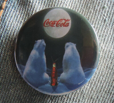 Pin Button Badge Ø38mm Coca-Cola pub noel avec ours