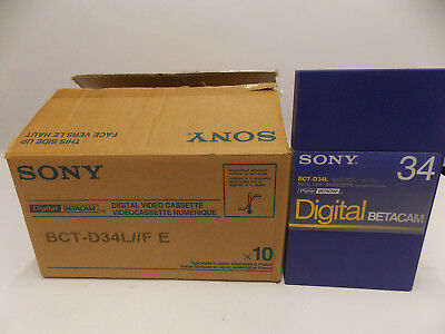 Sony BCT BCT-D 34 L Digital Betacam Tapes 10er pack <>