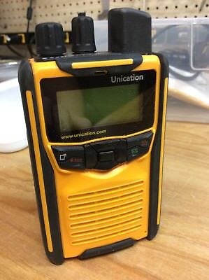 Unication G1 VHF Voice Pager. Stored Voice  Fire EMS Rescue Yellow Pager Only