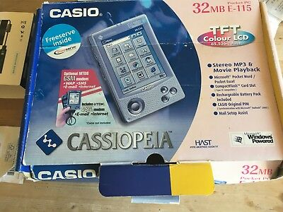Vintage Pocket PC Casio Cassiopeia E-115 PDA 32mb Colour TFT LCD