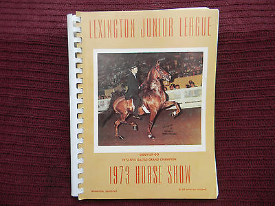 1973 Lexington Kentucky Junior League Horse Show Program - Giddy-Up-Go