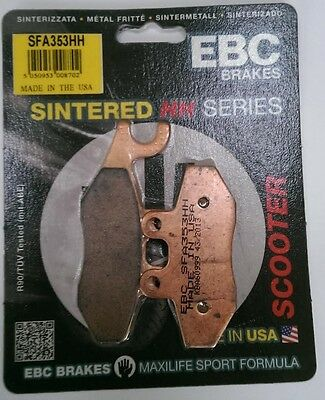 Piaggio Fly 125 (2005 to 2015) EBC Sintered FRONT Disc Brake Pads (SFA353HH)