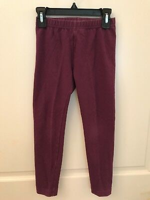 Hanna Andersson Solid Purple Livable Leggings Girls 120