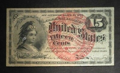 1862 15 Cent 15¢ Fractional Currency- Nice Note