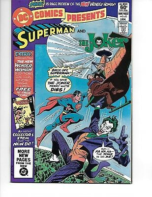 DC Comics Presents #41  Jan 1982  Superman vs Joker Wonder Woman insert