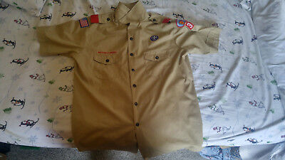 Boy Scouts of America Official Uniform Shirt Men's L Large BSA Great Southwest