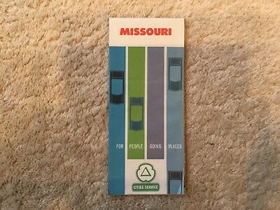 1962 Cities Services Highway Road Map- Missouri