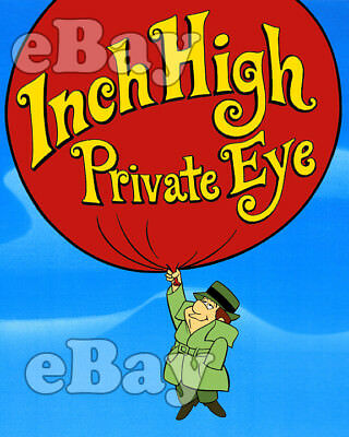 Rare! INCH HIGH PRIVATE EYE Cartoon Color TV Photo HANNA BARBERA Studios
