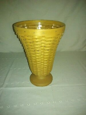 2003 Longaberger Collector's Club Flower Floral Vase With Protector