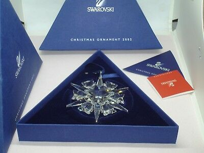 2002 Swarovski  Snowflake Annual Christmas Ornament  NEW Condition