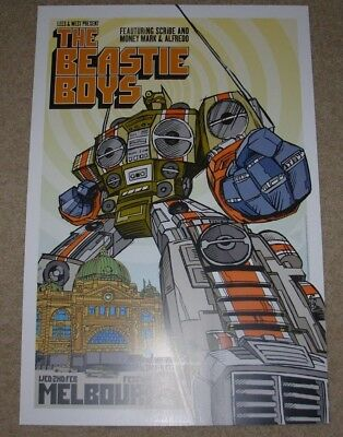 BEASTIE BOYS concert gig poster MELBOURNE 2-2-05 2005 Tour rhys cooper