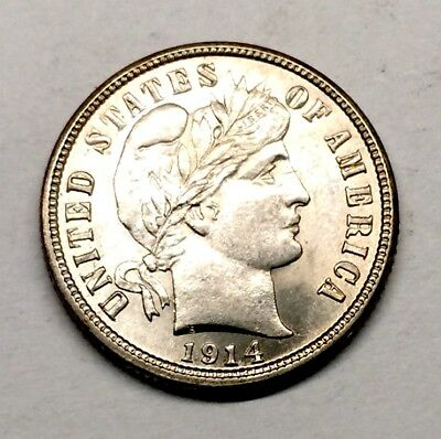 1914 S Barber Dime MS Mint State