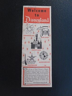 1958 Welcome to Disneyland Brochure with Map