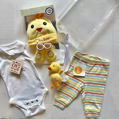 Nwt Lot Baby Chick Easter Boy Girl 0- 3 Months Hanna Anderson Gymboree  Carters
