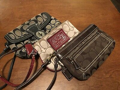 Three Coach Wristlets lot