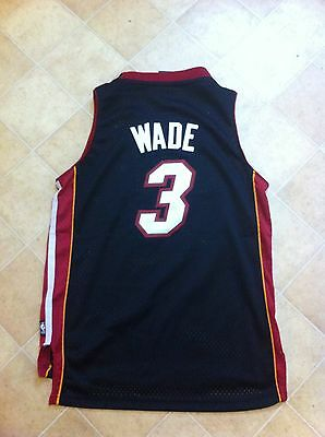 Dwayne Wade Miami Heat Adidas Jersey Youth Medium Sewn Lightly Worn