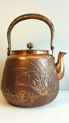 Antique Japanese Copper Teapot, Signed