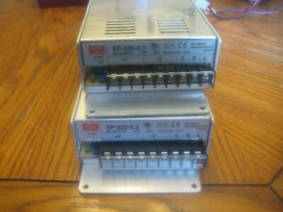 LOT OF 2-MEANWELL SP-320-3.3 3.3V 55A Single Output LED Power Supply 180W-SALE!!