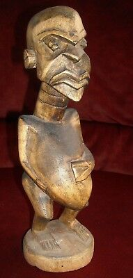 "Vintage Carved Wood Fertility Statue, 12"", """"a Must See"""""